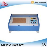 Wholesale 3020 CO2 laser engraving machine w laser cutting machine with digital function and honeycomb USB port no tax to EU