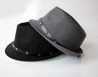 adult woolen cloth - Han Edition Autumn Winter Hats Thick Woolen Cloth Fabric Hip hop Jazz Caps Lovers Hats