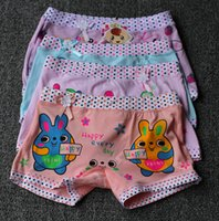 Wholesale 2 Years Old Little Girl Kids S M L size Cute Floral Print clothing Cotton Underwear Briefs Boxers Panties