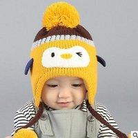 beanie babies penguin - Yiwu Fashion New Cartoon Cute Lovely Penguin Design Baby Winter Hats Beanies Children Kids Earmuff Caps