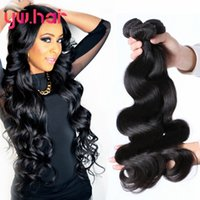 Wholesale Grade a Brazilian Virgin Hair Body Wave Bundles Unprocessed Human Virgin Hair Wet and Wavy Hair Bundle Deals Brazilian Body Wave