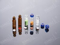 autosampler vials - 2ml HPLC autosampler vials amber thread ND9 Screw Neck glass sample vials with Caps and Septa