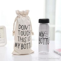Wholesale My bottle bag Cotton pocket beam Don t touch This is my bottle Bottle drawstring bags Only bag not including bottle