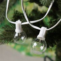 balls commercial - 25Ft G40 Globe String Lights with Clear Bulb outdoor LED Chrismas String Lights Perfect indoor Lighting Strings Commercial Decor Light