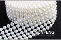 pearl trim - 6 rows mm plastic pearl mesh trims yards roll imitate pearl sew on trims M67766