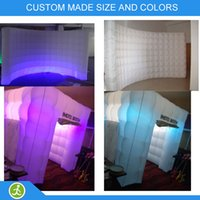 Wholesale Foldable led light unique pc led photo booth wall and pc Inflatable photo booth