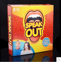 Wholesale NEW HOT Speak Out Game Ridiculous Mouthpiece Party Game Challenge Game Speak Out Board Game Jokes Funny Toys Christmas Gift IN STOCK