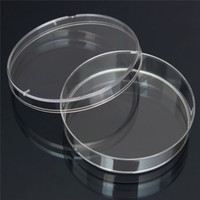 Wholesale 10pcs mm x mm Polystyrene Bacteria Culture Dish Disposable Sterilized Petri Dishes Lab Polystyrene Lowest Price