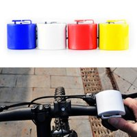 Wholesale New Colorful Mini Bicycle Electronic Horn Bell Bike Cycling Handbar Ultra loud Alarm Bell Horn Power By AAA Color Random B050