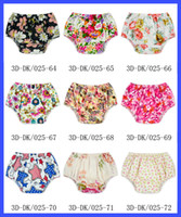 Wholesale DHL free Top Quality Baby Bloomers Cotton Polyester Cloth Diaper Cover Years Old Baby Bloomers