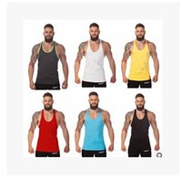 Wholesale Men GYM Stringer Singlets VEST Tank Tops Bodybuilding Fitness Shirts Trainning Vest Muscle Sleeveless Shirt Tank Top T shirt KKA324