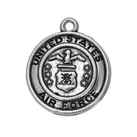 air force jewelry - My Shape Military Zinc Alloy Antique Silver Plated Round United States Air Force Charms Fashion Jewelry Series