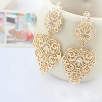 Wholesale Drop Earirings Retro Vintage Alloy Women Silver plated Gold Plated Long Bohemian Pierced Dangle Earrings for Women