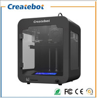 Wholesale Createbot Desktop super Mini D Printer Machine mm Print Size LCD Screen Single Extruder FDM d printer kit colors for option