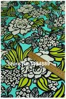 achat en gros de quilting tissu blanc-1 mètre 1 mètre fond vert avec la fleur blanche jaune VB patchwork tissu quilting tilda pour la couture de tissu CRYY-276