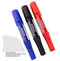 Wholesale 12pcs Red Black Colored Permanent Oil Marker Scriptliner Markers Felt tip Pen On Rubber Marker paint pen tire Marker