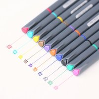 advertising ink pens - 10 Fine line drawing pen for manga cartoon advertising design Water Color pens Stationery Office school supplies