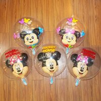 Wholesale 19 Inch Transparent Mickey Mouse Ballons Wedding Balloon Birthday Party Balloons Decoration Room Cartoon Decoration Kids Inflate Toy LJJP187