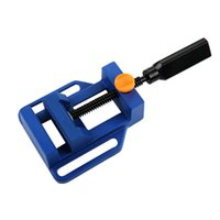 bench drilling machine - Mini Table Vise Clamp on Bench Flat Table Plier Clamp for Drill Stand Handle Engraving Workbench DIY Tool Milling Machine Manual