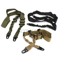 airsoft gun kit - Nylon Multi function Adjustable Two Point Tactical Rifle Sling Hunting Gun Strap Outdoor Airsoft Mount Bungee System Kit