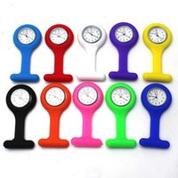 Wholesale Hot Selling Silicone Nurses Brooch Tunic Fob Medical Nurse Watch Free Battery Cute Patterns Fob Quartz Doctor Watch Pocket Colours C15