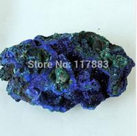 azurite pendant - Natural Crystal Stone Blue Malachite Nunatak azures mineral azurite specimen