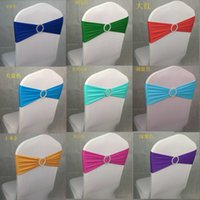 Wholesale HOT SELL Spandex Lycra Wedding Chair Cover Sash Bands Wedding Party Birthday Chair Decoration