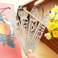 Wholesale 1054 beautiful hollow out ultra thin exquisite miniature metal bookmark a scale ruler Creative contracted lovely bookmark