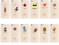 apple humor - Transparent Soft TPU Marvel Movie Cases Clear Captain American Iron Man Batman Humor for Iphone s s plus Samsung S5 S6 S7 S7 edge