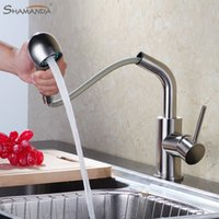 Wholesale Brass Hot and Cold Water Mixer Pull out Kitchen Faucet Degree Rotation Sink Tap
