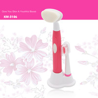 Wholesale 2 in Electric Tooth Brush Face Cleaner Waterproof Massager Sonic Face Cleansing Brush Face Care Whitening Facial Brush