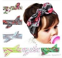 Wholesale 2016 fashion Baby Flower Headband Toddler Soft Girl Kids Cross Hairband Turban Knitte Knot Headwear Hair Accessories