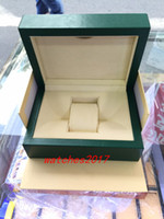 Wholesale 2016 New Luxury watches Original Watch Box Book Card Top Brand Gift Jewelry Bracelet Bangle Display PU Leather Green Storage Case Pillow