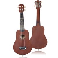 Wholesale 21 quot Acoustic Ukulele Musical Instrument Coffee High Quality Professional