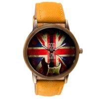 auto flag - Delicate Hot relogio feminino Flag Pattern Leather Band Analog Quartz Wrist Watches reloj mujer Al11 Cheap watch men in black online