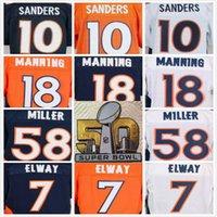 Wholesale Broncos Emmanuel Sanders Peyton Manning Derek Wolfe Von Miller John Elway logo th patch Bound elite football jerseys