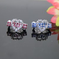 Wholesale new arrivals luxury rhinestone heart for dogs hairwear ornaments for dogs jewelry white pink blue colo