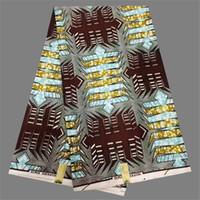 Африканские отпечатки Отзывы-Elengant Нигерия текстильной хлопок Африканский распечатаны воска ткани батика для пошива одежды WF226 (6yards / серия)