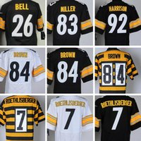 bell heath - 2016 Steelers Ben Roethlisberger Antonio Brown Heath Miller Le Veon Bell James Harris Elite Football jerseys