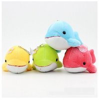 Wholesale Small cute dolphin plush Cell Phone Straps Keychain Stuffed Animals Plush Kid Toys dolphin plush wedding toy doll DHL