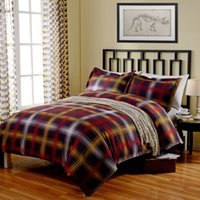 Wholesale P20125 Printed Red Plaid Duvet Cover Europe Style Comforter High Quality Quilt Cover