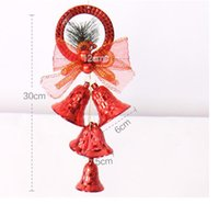 bell bow - Hot Sale Christmas Bells cm Christmas Bow Bells Pendant Hanging Decoration For Home Navidad New Year