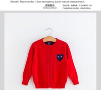 big red machine - kids sweater big eyes cardigans knitwear children buckle sweater for autumn and winter with red and navy color