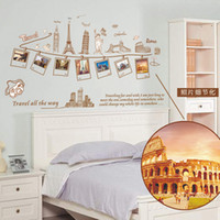 bedroom furnishings - Photo frame famous cartoon buildings building wall stickers creative home furnishings painted wall decoration wallpaper