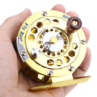 aluminum fly boxes - New Arrival Fly Fishing Vessel Reels BF600 Portable Aluminum Gold Disk Drag with Retail Box