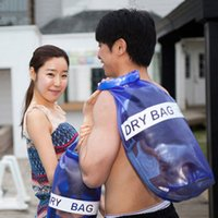 Wholesale Outdoor Travel Swimming Dry Bags Waterproof Portable Bag Large Capacity Drifting Blue Dry Storages MC0007 smileseller