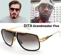 aluminum glass frames - 2016 Fashion DITA logo Grandmaster Five Style Sunglasses Men Women Brand Designer Vintage Retro Sun Glasses Gafas Oculos De Sol