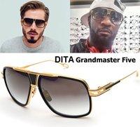al por mayor los hombres de estilo retro-2017 Las mujeres de los hombres de las gafas de sol del estilo de DITA Grandmaster cinco de la manera diseñan los vidrios de sol retros de la vendimia del diseñador Gafas Oculos De Sol 1722 con el caso