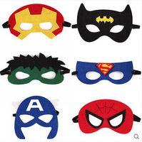 halloween supplies - Fancy Halloween Supplies Half Face Multi Styles Felt Cloth Superhero Masks hand mask Children Party Mask