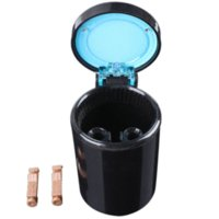 Wholesale Black Color Portable Car LED Light Ashtray Auto Travel Cigarette Ash Holder Cup M50999 cup holder ashtray